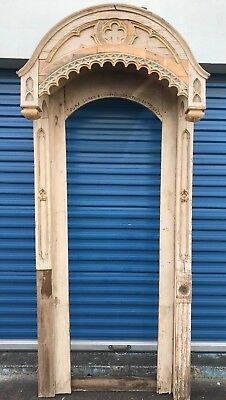 Antique/Vintage  Architectural Salvage Ornate Door Frame From Church Chapel