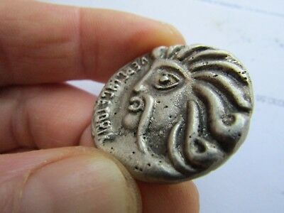 ancient celtic silver coin Vercingetorix