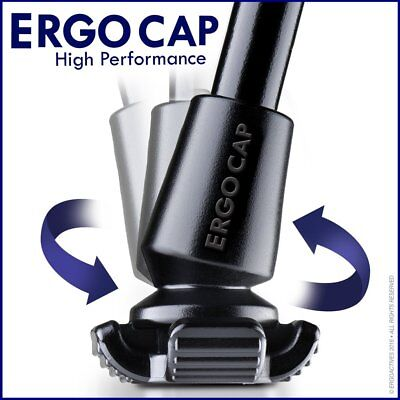Ergocap®  HIGH PERFORMANCE Cane Rubber Tip (1 Unit-universal for Canes)