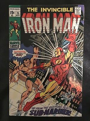 The Invincible Iron Man 25 VG Fine+ May 1970