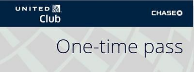 United Airlines UA Club One-Time Pass Expires 1/19/2020 [Chase]