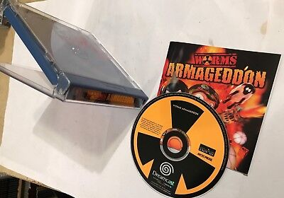 Sega Dreamcast Game Worms Armageddon +Box & Instructions Pal