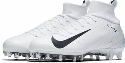 54c69fe7307 New Nike Vapor Untouchable Pro 3 Football Cleats 14 White Black 917165-105