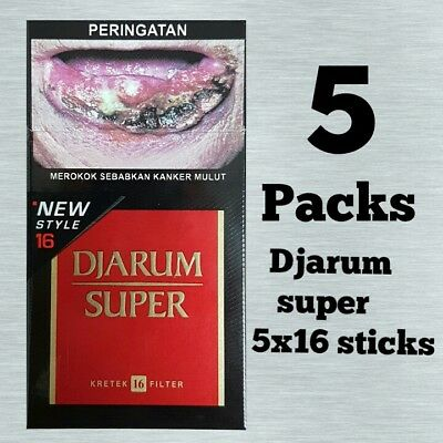 5 pack Djarum super indonesia flavor