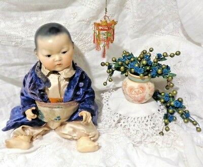 """Antique 14"""" Closed Mouth Armand Marseille Oriental Dream Baby A.m. 353./3K."""