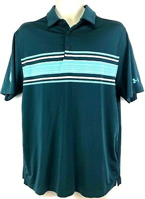 Under Armour Mens Shirt Short Sleeve Heat Gear Polo Loose Fit Size Large Z1 Buy Now Polos Men's Clothing