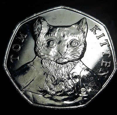Tom Kitten 50P Uncirculated Coin 2017 X 1 - Fifty Pence Beatrix Potter Set