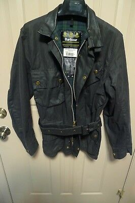 Barbour- A132 Beacon Waxed Cotton Jacket- Rare-Made In England- Size 38