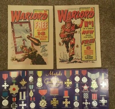 WARLORD COMICS NOs 1 and 2 with gifts. Sept and Oct 1974. Excellent. No folds.