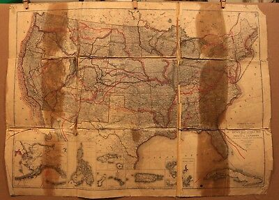 1907 United States Principal Explorers Early Roads Highways Frank Bond Map