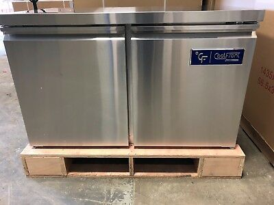 NEW CoolFront Double Two 2 Door Undercounter Stainless REFRIGERATOR 12 Cu.
