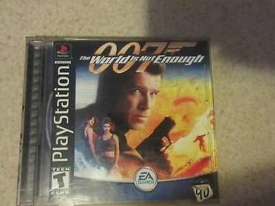 007 James Bond The World Is Not Enough PlayStation 1 Complete Good Condition
