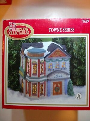 Dickens Collectables Hand-Painted Porcelain Lighted House: Bank