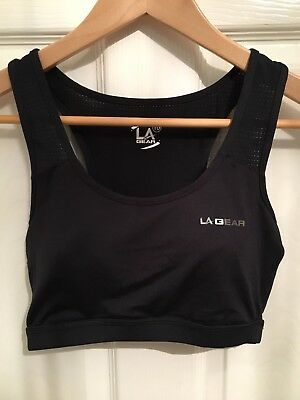 La Gear Black Sports Bra Size 10