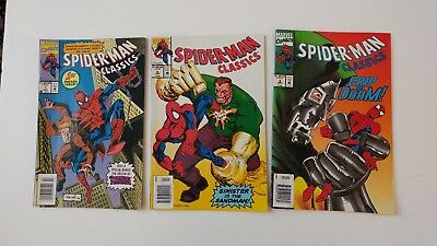 LOT of 3 SPIDER-MAN CLASSICS #1, #5 and #6. ALL FROM 1993. VERY GOOD CONDITION.