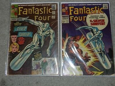 Fantastic Four lot #50 & 55 3rd SILVER SURFER 2nd GALACTUS NR KIRBY LEE 2.5-4.5