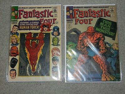 Fantastic Four lot 51 & 54 Classic Thing story 3rd Black Panther Inhumans 5.0