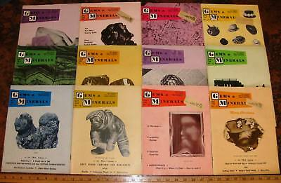 GEMS & MINERALS MAGAZINE All 12 Issues 1962 Complete Rocks Fossils Jewelry Mines
