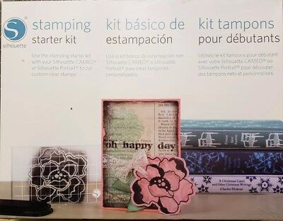 NIB STAMPING STARTER KIT Silhouette SD Cameo Portrait Machine Custom Stamp DIY