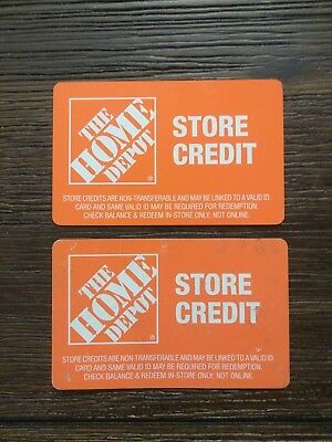 Home Depot Store Credit 2 cards $282.60 total