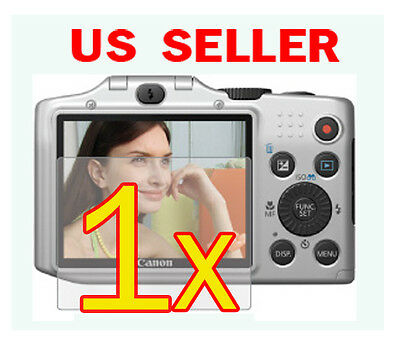 1x Canon PowerShot SX160 IS Clear LCD Screen Protector Guard Shield Film