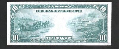 Rare Sharp Dallas Burke/macadoo 1914 $10 Federal Reserve Note No Reserve Auction