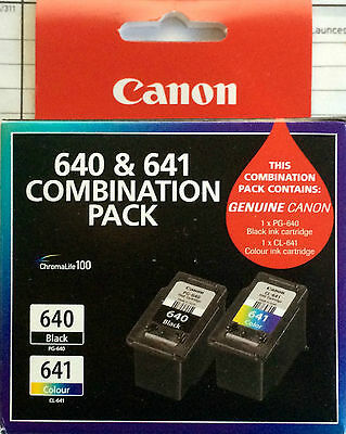 Canon 640 & 641 Combination Pack  PG-640 - CL-641 Made In Japan New & Sealed