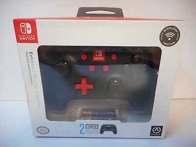 PowerA Enhanced Wireless Nintendo Switch Pro Controller BLACK/RED NEW SEALED