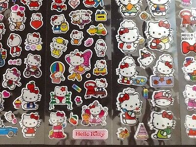 HELLO KITTY PVC padded Stickers 15 Packs 5 Different 3 Of Each - PARTY BAG GIFT
