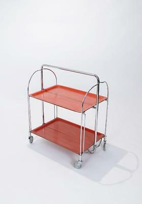 Midcentury Folding Trolley in Chromed Metal, Germany, 1960s