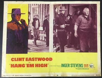 Marshal Jed Cooper Clint Eastwood Alan Hale Hang 'Em High '68 #4 lobby card 2281