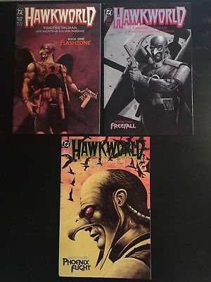 Hawkworld #1-3 VF/NM complete series TIM TRUMAN hawkman dc comics set 1989