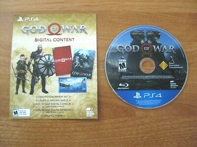God of War PlayStation 4 PS4 Game Disc + Stone Mason Collector's Edition DLC New