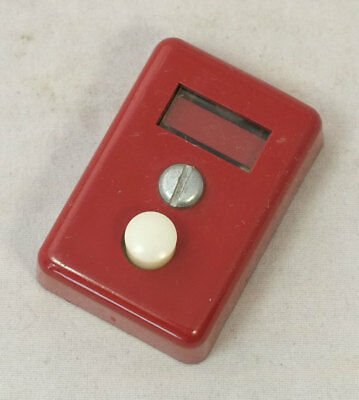 Vintage Red Western Electric 551A Key Telephone Button