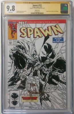 Spawn 231 Cgc Ss Signed By Todd Mcfarlane Sketch Edition 9.8