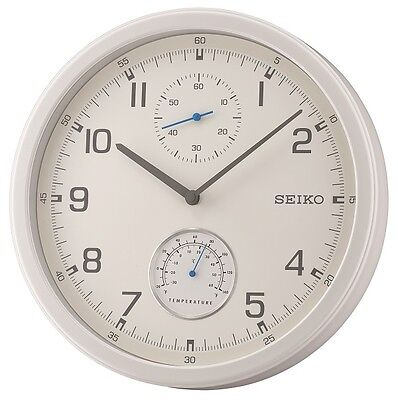 Seiko Wall Clock with Thermometer Gauge QXA542W