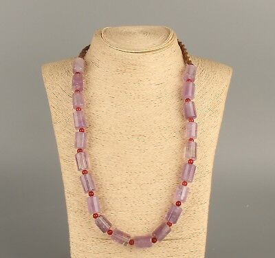 Chinese Exquisite Handmade Amethyst crystal necklace