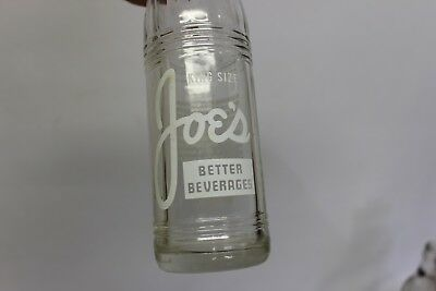 Joe's Beverages Soda Bottle, York, Nebraska 1961