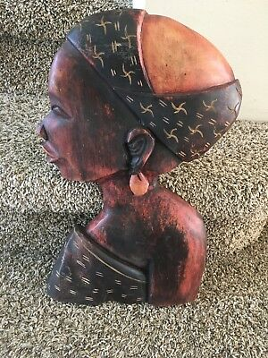 Beautiful Wooden Carving Black Woman Wall Art