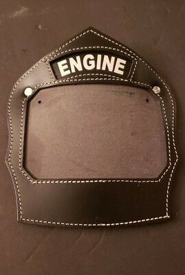 Leather Fire Helmet Front