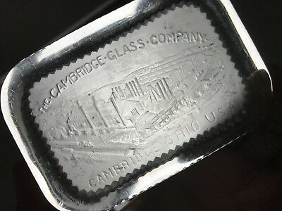 Early Glass Works Paperweight Advertising Cambridge Ohio Glass Company 1910's