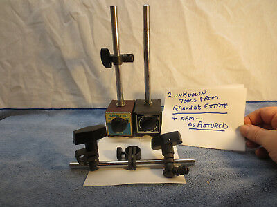 Kanetec Magnetic Base Machinist Metalworking Tool Lathe  2 BASES W/ ARM PARTS