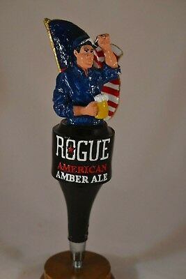 Rogue American Amber Ale Beer Tap Handle Used with Issues Free Shipping!
