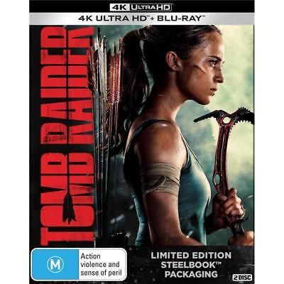 Tomb Raider (2018) Limited Edition SteelBook 4K UHD + Blu-ray  BRAND NEW 2-DISC