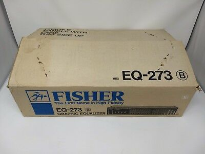 NIB~Fisher Studio Standard Stereo Graphic Equalizer EQ-273 Made in Japan Tested