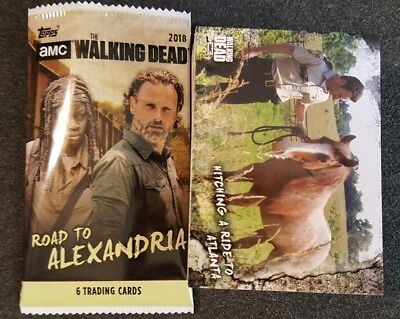 2018 Topps The Walking Dead Road To Alexandria Complete 100 Card Set/w Wrapper