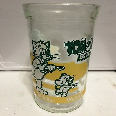 """WELCH'S,1993,PROMO GLASS,""""Tom and Jerry"""", The Movie  !!!   ST"""