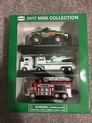 2017 Hess Truck Miniature Collection Set of 3 Limited Edition Sold Out 2017 NEW