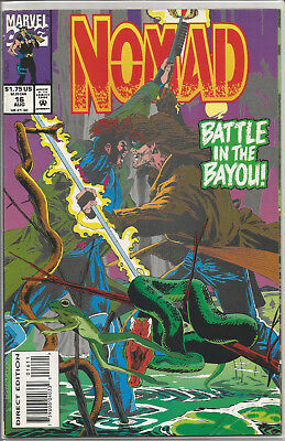 """Nomad Vol. 2 #16 (Aug. 1993, Marvel)""""Battle In The Bayou!"""" Guest Starring Gambit"""