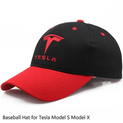 Adjustment Embroidery Cap Cotton Baseball Hat for Tesla Model S Model X f758fe5b65cf